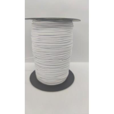 Cordón Elástico redondo blanco normal de confección...
