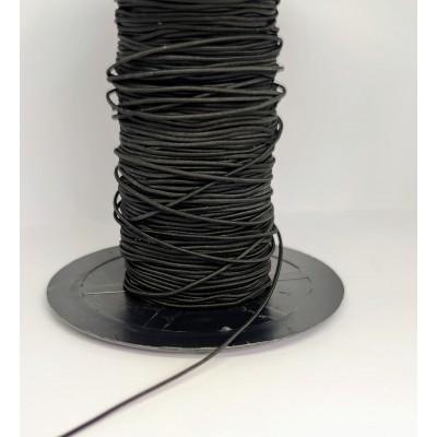 Cordón Elástico redondo negro normal de confección varias...