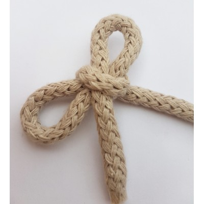 Cordón trenzado de algodón tamaño 1cm  varios colores