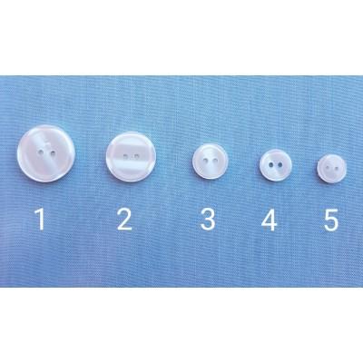 Botones nacarina blancos varios tamaños