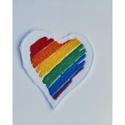 Corazón Bordado de Colores - Mercería Sonia