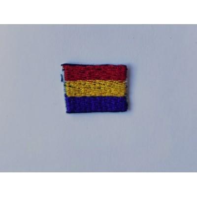 Parche bordado bandera republicana 2 cm x 2.50 cm