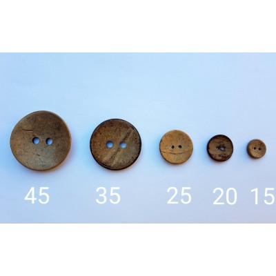 Botones de coco varios tamaños