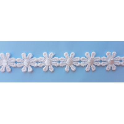 Pasamanería de flores blancas pequeñas 15mm de ancho