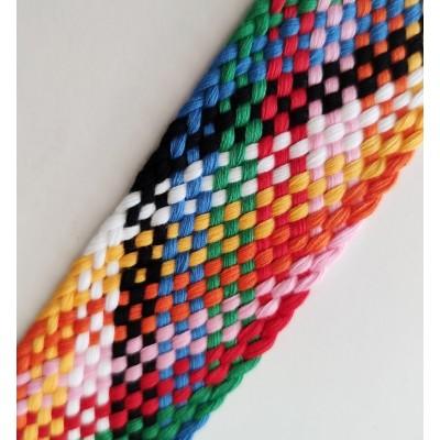 Cinta de algodón trenzada multicolor
