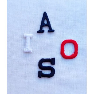 Letras bordadas termoadhesivas 7mm