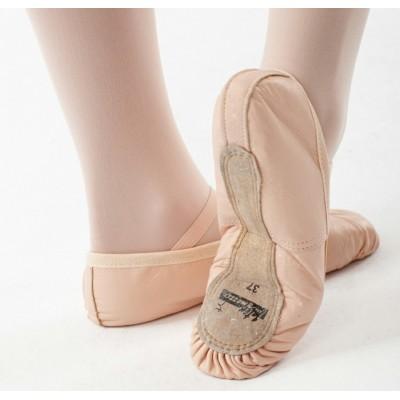 Zapatillas de media punta de piel