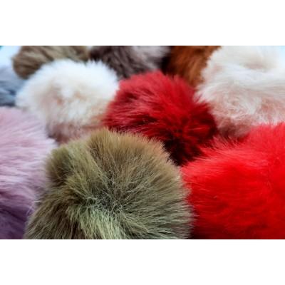 Pompon de pelo varios colores y tamaños